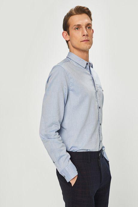 Koszula męska slim comfort niebieska