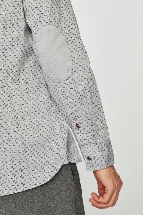 Koszula męska slim comfort szara