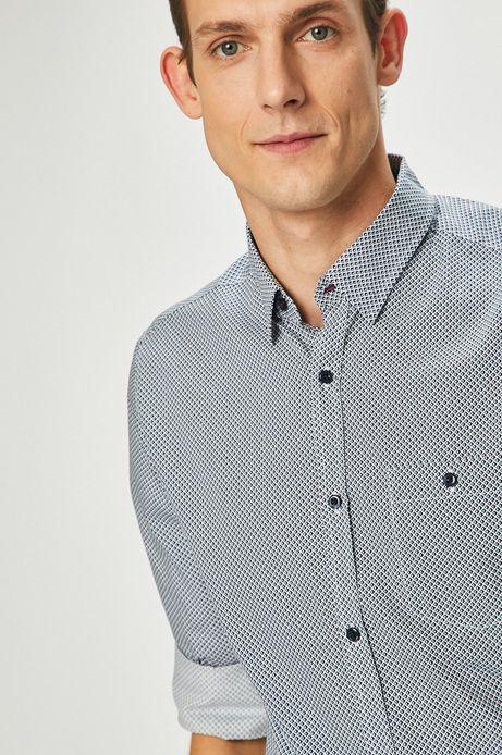 Koszula męska niebieska wzorzysta