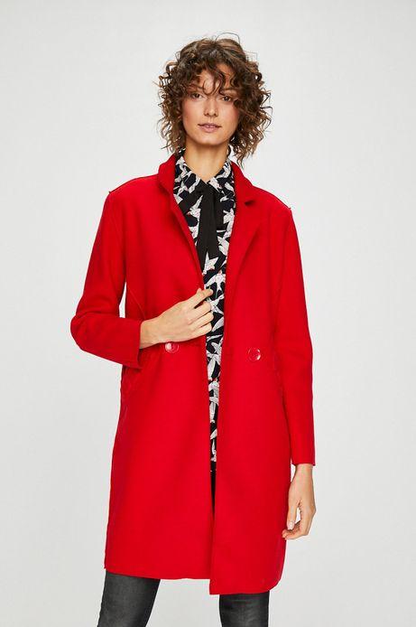 Woman's Płaszcz damski czerwony przejściowy
