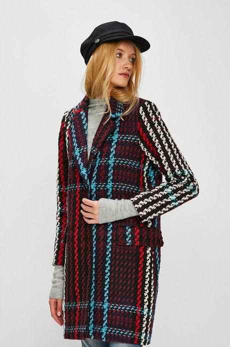 Płaszcz damski wzorzysty