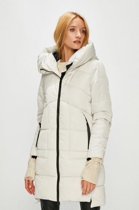 Płaszcz damski kremowy ocieplany pikowany