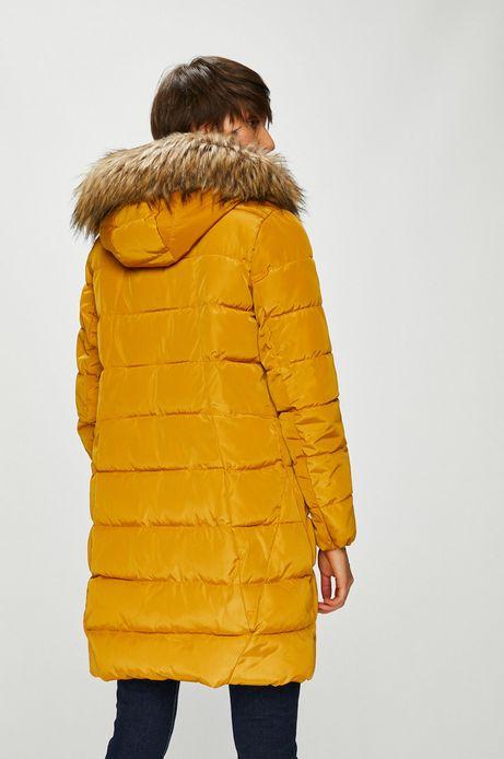 Kurtka damska żółta pikowana z kapturem