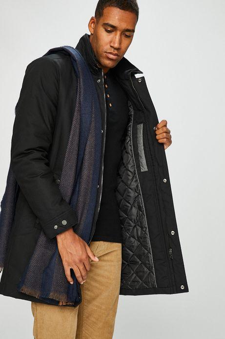 Płaszcz męski czarny ocieplany