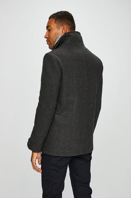 Płaszcz męski szary lekko ocieplony na podszewce