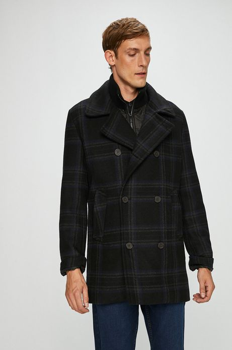 Płaszcz męski szary w kratę
