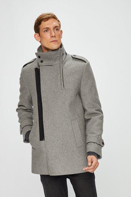 Płaszcz męski szary lekko ocieplany