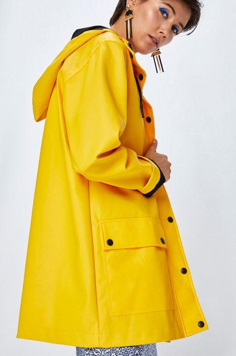 Woman's Kurtka damska żółta wodoodporna
