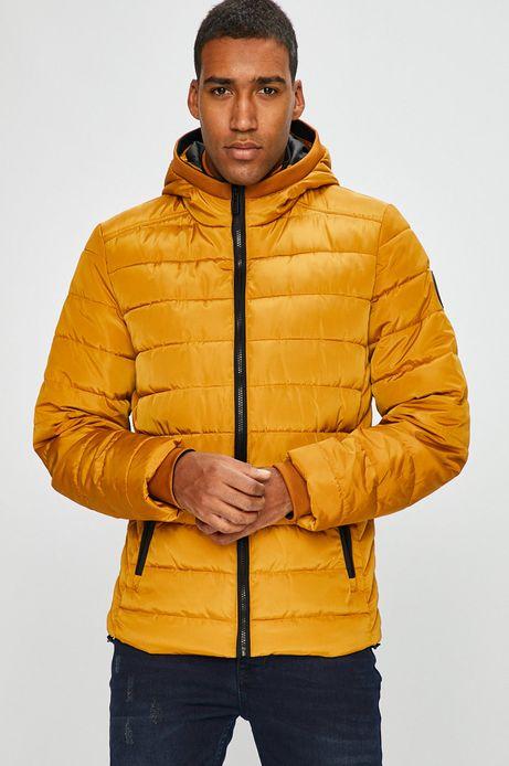 Kurtka męska żółta ocieplana pikowana