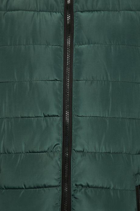 Kurtka męska zielona ocieplana pikowana