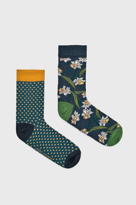 Skarpetki damskie w kwiaty i kropki (2-pack)