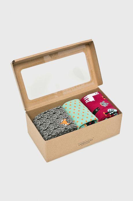 Skarpetki damskie w lamy (3-pack)