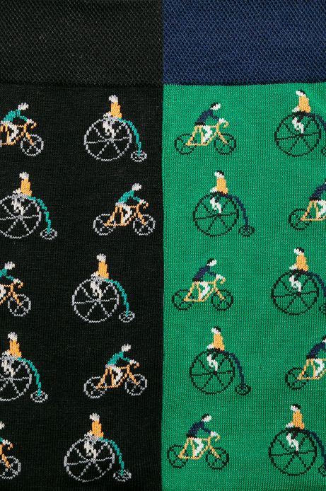 Skarpety męskie w rowery (2-pack)