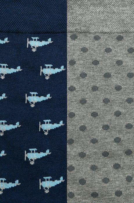 Skarpety męskie w samoloty i kropki  (2-pack)