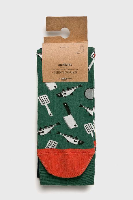 Skarpety męskie wzorzyste (2-pack)
