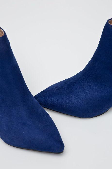 Botki damskie niebieskie na szpilce