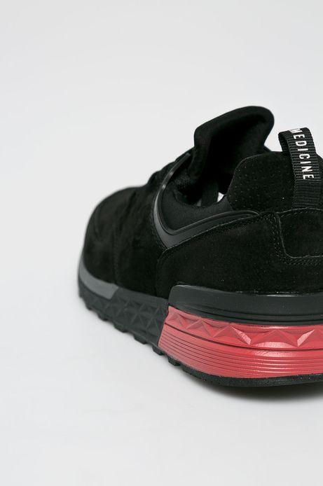 Buty męskie czarne ze skóry naturalnej