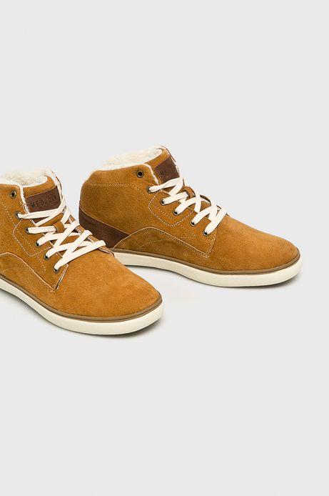 Buty męskie ze skóry naturalnej brązowe