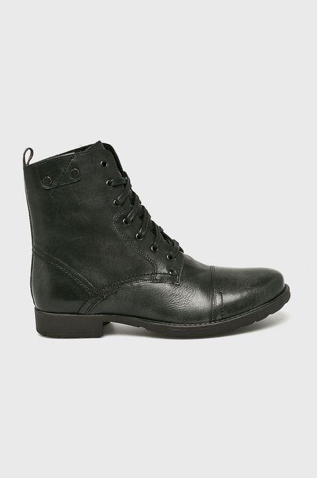 Buty męskie czarne skórzane