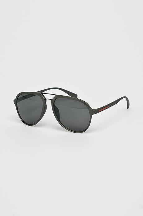 Okulary męskie aviator szare