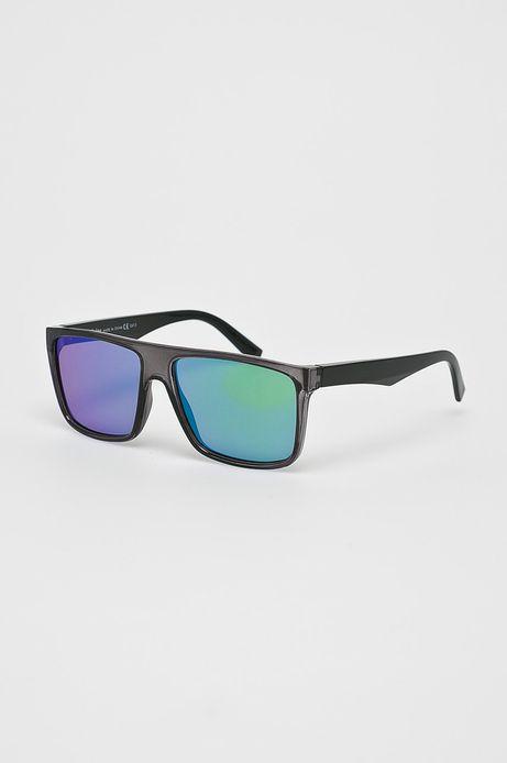 Okulary męskie z kwadratową oprawką niebieskie
