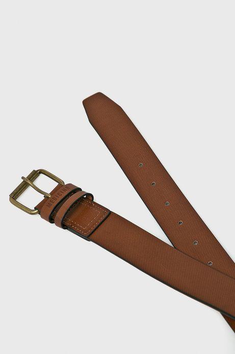 Pasek męski brązowy z zapięciem na klamrę