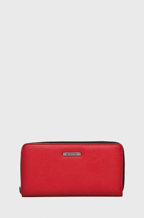 Portfel damski duży czerwony gładki