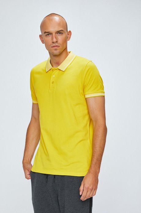 Polo męskie żółte gładkie