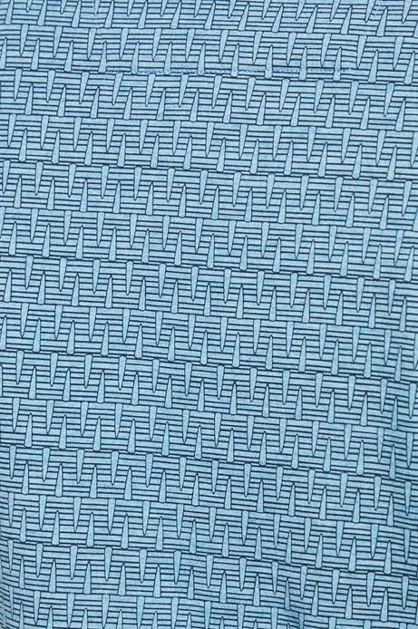 Polo męskie slim niebieskie wzorzyste