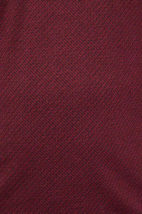 Polo męskie slim bordowe wzorzyste