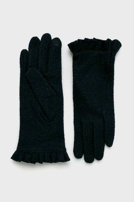 Rękawiczki damskie granatowe z wełną