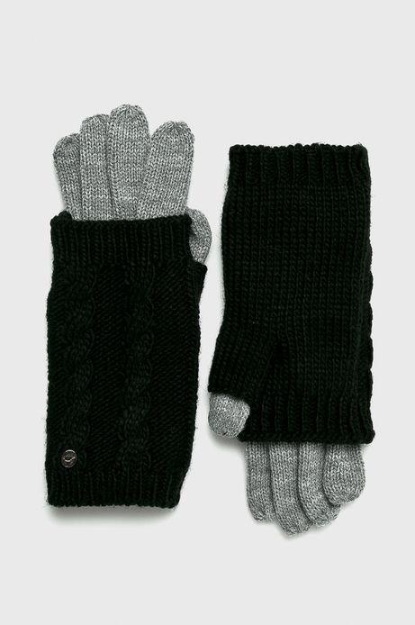 Rękawiczki damskie szare z mitenkami (2-Pack)