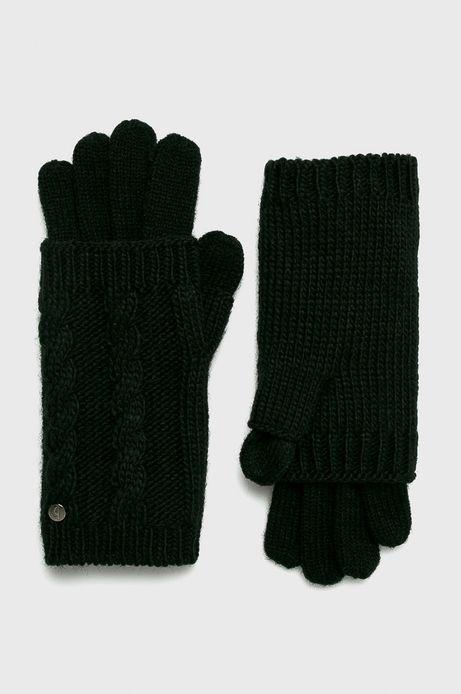 Rękawiczki damskie czarne z mitenkami (2-Pack)