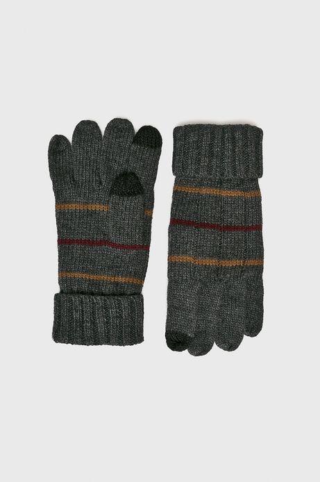 Rękawiczki męskie szare pięciopalczaste