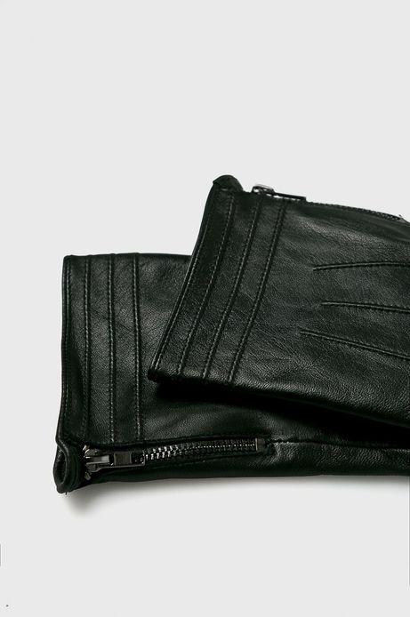 Rękawiczki skórzane męskie czarne