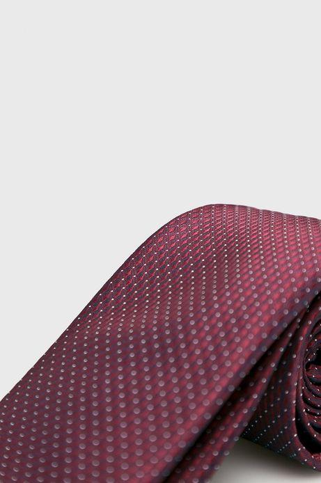 Krawat męski bordowy