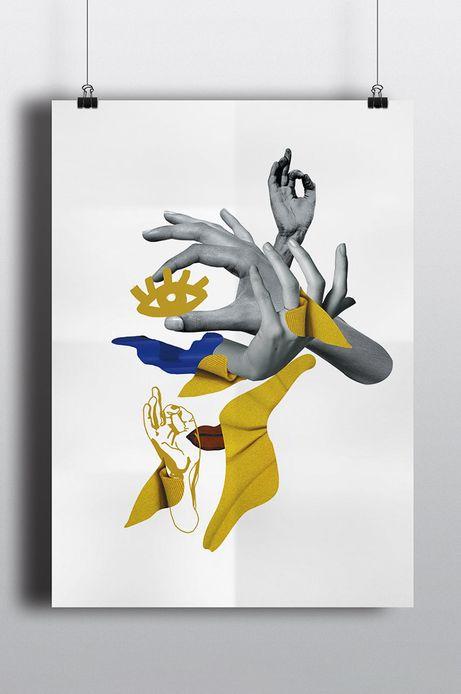 Plakat Street Art by Barrakuz Collages 70,7x50 cm