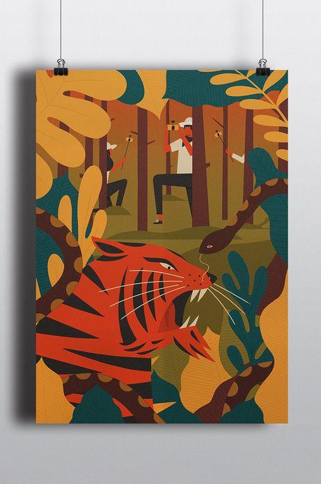 Plakat by Dawid Ryski, Street Art 70,7x50 cm