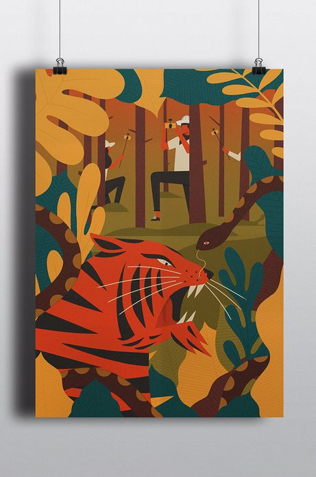 Plakat by Dawid Ryski, Street Art 29,7x21 cm