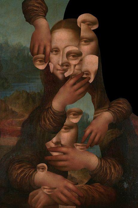 Plakat by Barrakuz Collages, Street Art 100x70,7 cm