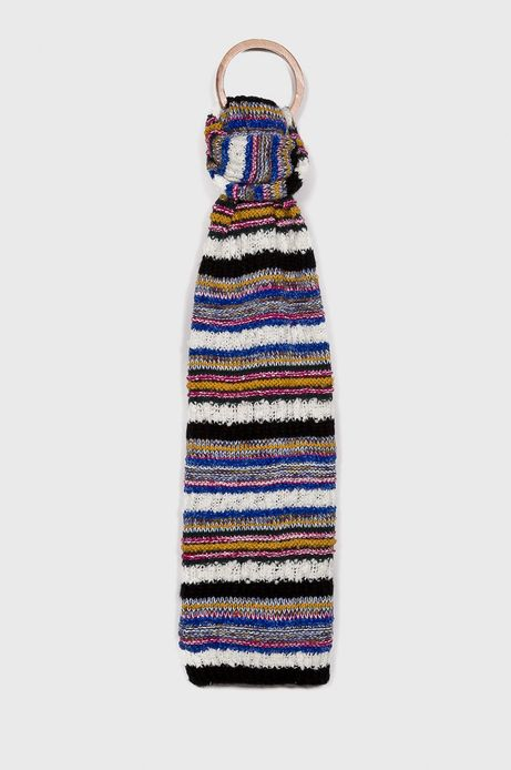 Szalik damski multicolor w paski