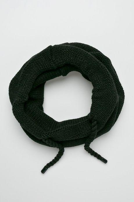 Komin męski czarny gruby ze sznurkami