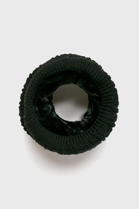 Komin męski czarny gruby z dodatkowym ociepleniem