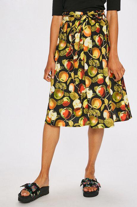 Spódnica damska czarna w owoce