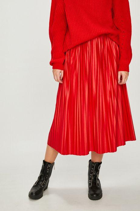 Spódnica damska czerwona rozkloszowana