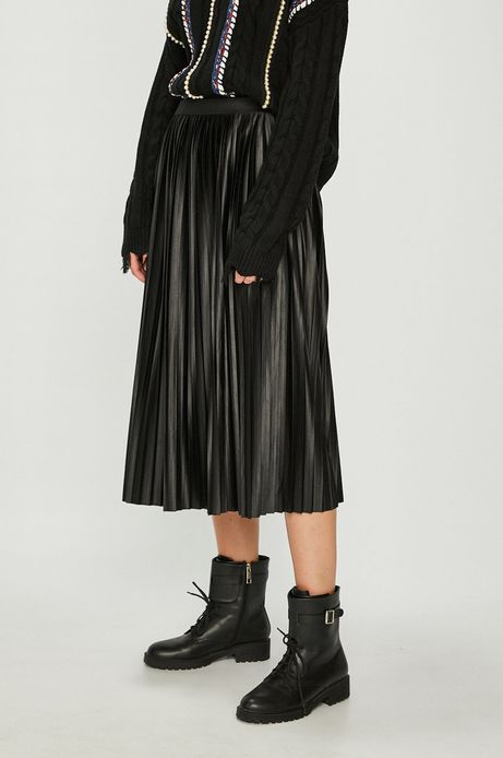 Spódnica damska czarna rozkloszowana