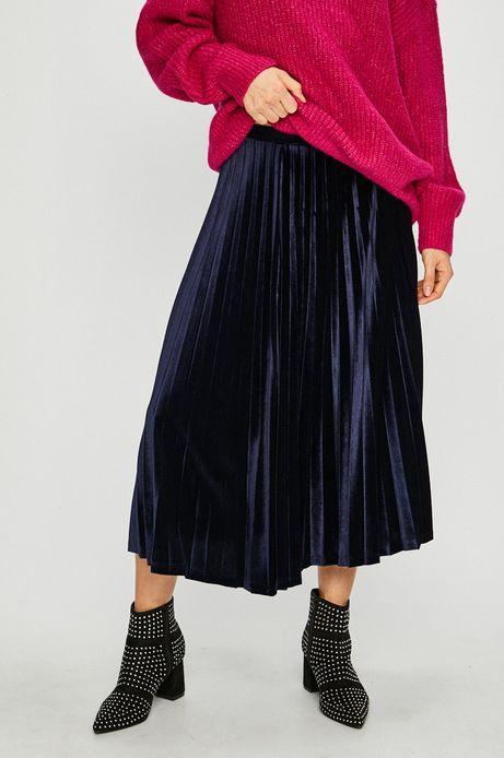 Spódnica damska granatowa plisowana