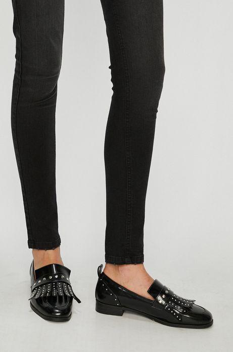Jeansy damskie skinny czarne z podwyższoną talią