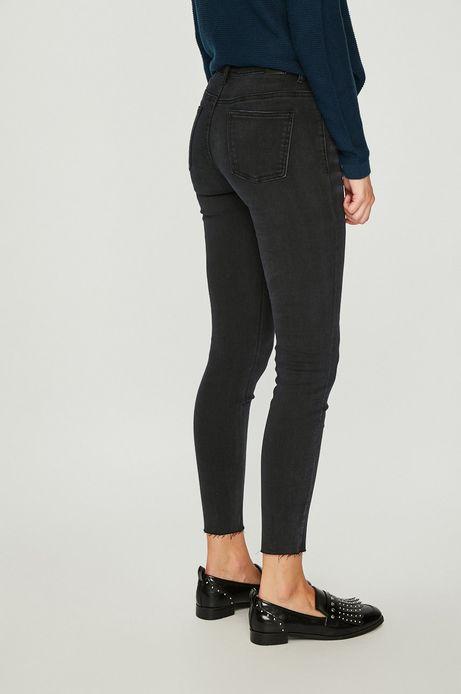 Jeansy damskie skinny czarne gładkie