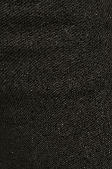 Jeansy damskie czarne z ozdobnym wiązaniem